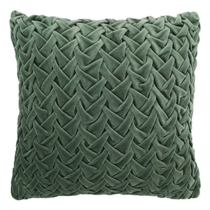 "Cross Overlapped Velvet Cushion, 18""X18"" Mod Lifestyles"