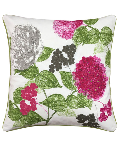 "Dahlia Print Decorative Pillow, 18"" X 18"""