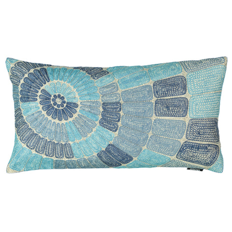 "Concentric Circle Embroidery Decorative Lumbar Pillow, 14"" X 26"""
