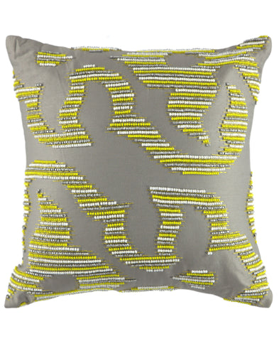 "Geo Beaded Decorative Pillow, 20"" X 20"""