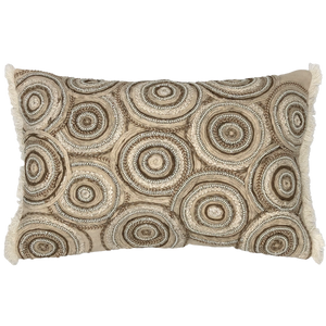 Concentric Circles Embroidery Pillow, 14''x20''