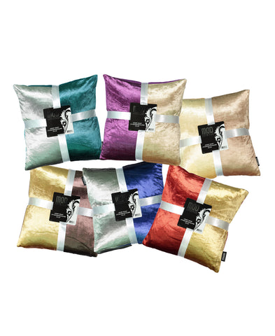 "2-Pack Tie Dye Viscose Velvet Decorative Pillow, 18"" X 18"""
