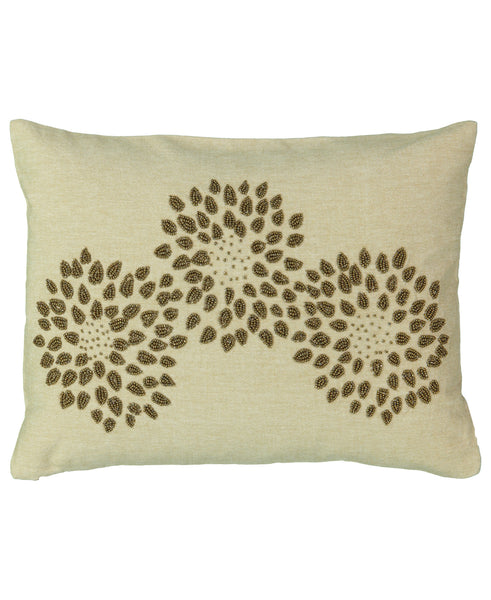 "Gold Beads Growing Flower Lumbar Pillow, 13"" X 18"" Mod Lifestyles"