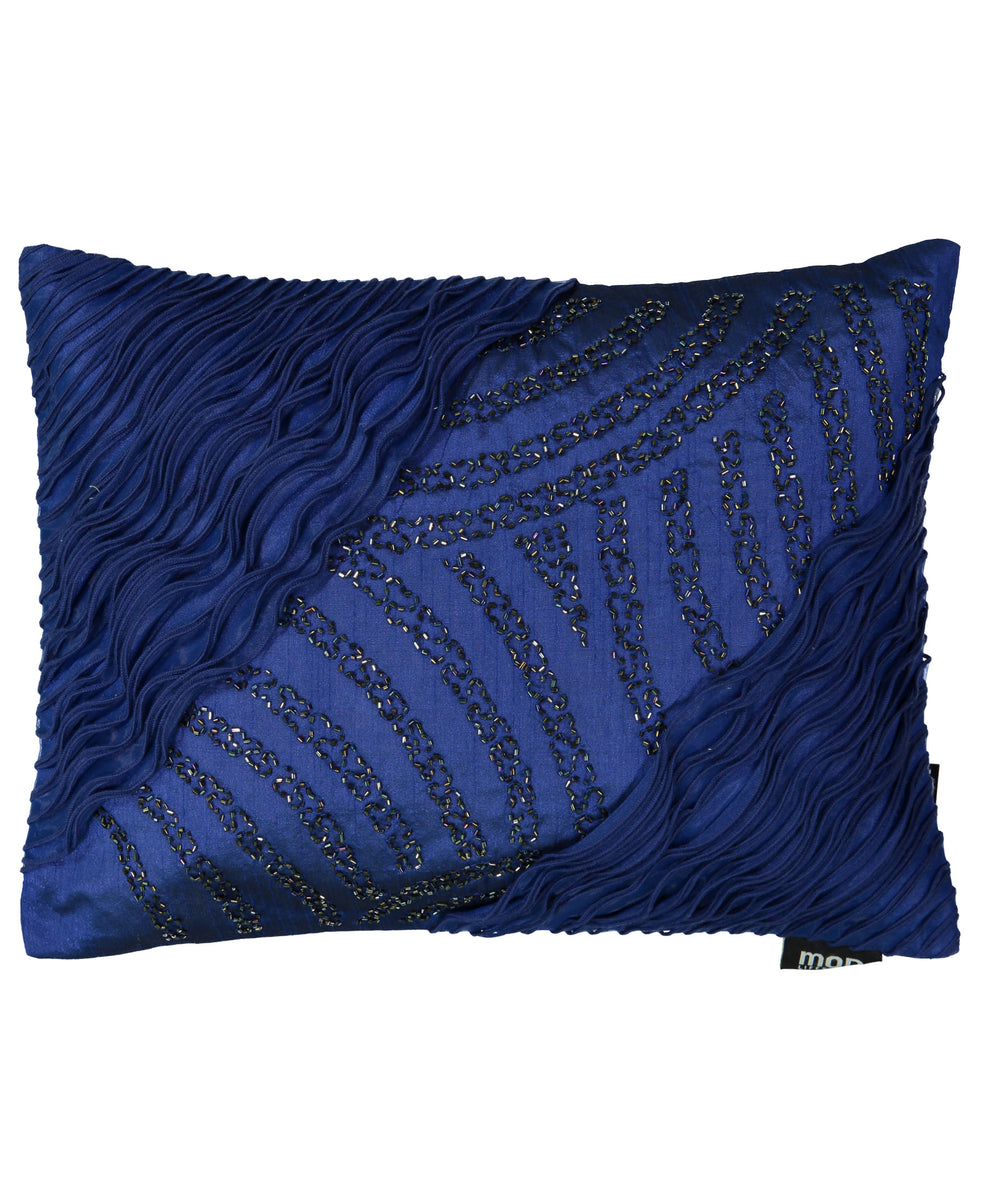 Modlifestyles Diagonal Rule With Beads Decorative Pillows 13 X18 Mod Lifestyles