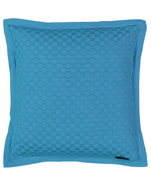 "Honeycomb Textured Flange Edge Decorative Pillow, 20"" X 20"" Mod Lifestyles"