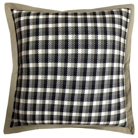 "Plaid Yarn-Dye Pillow with Flange Edge, 20"" X 20"""