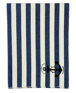 "Nautical Stripe Stamped Table Runner, 13"" X 72"" Mod Lifestyles"