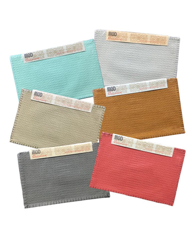 "Diamond Textured Cotton Placemats, 13"" X 19"" (Set of 4) Mod Lifestyles"