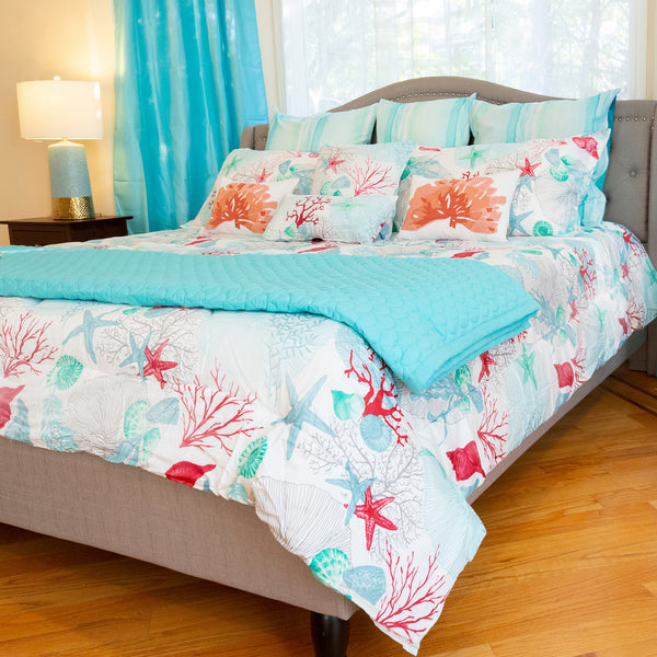 "Lost Paradise Queen Comforter Set, 88"" X 94"" Mod Lifestyles"