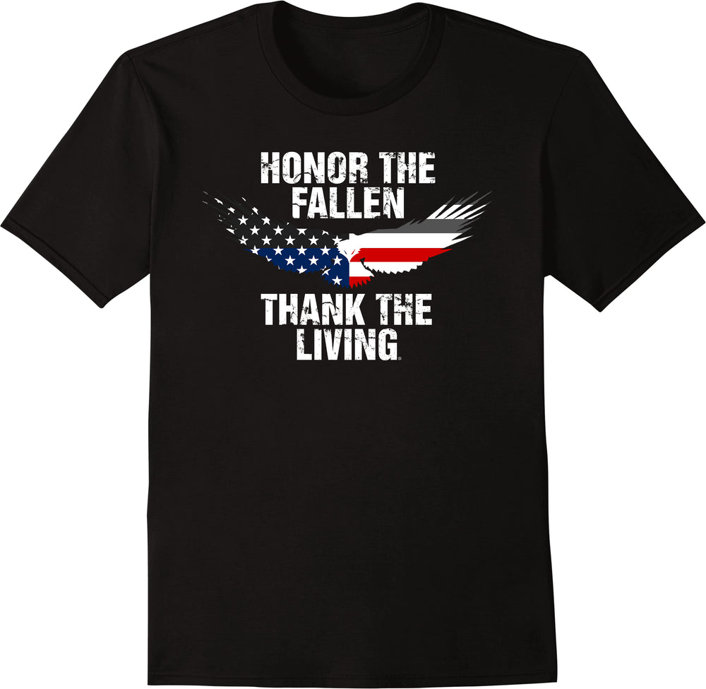Honor The Fallen Thank The Living - Greyed Eagle
