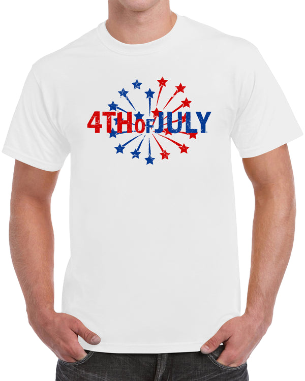 4th Of July Memorial Day Patriotic Shirt - Distressed Print