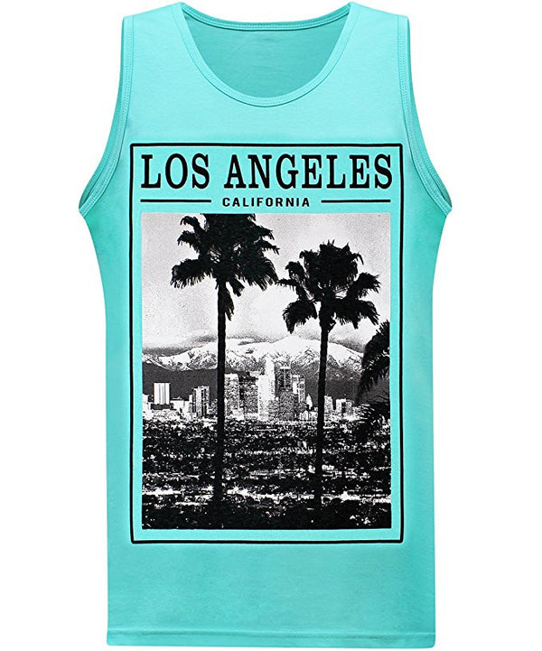 Los Angeles Twin Palms Tank - Aqua