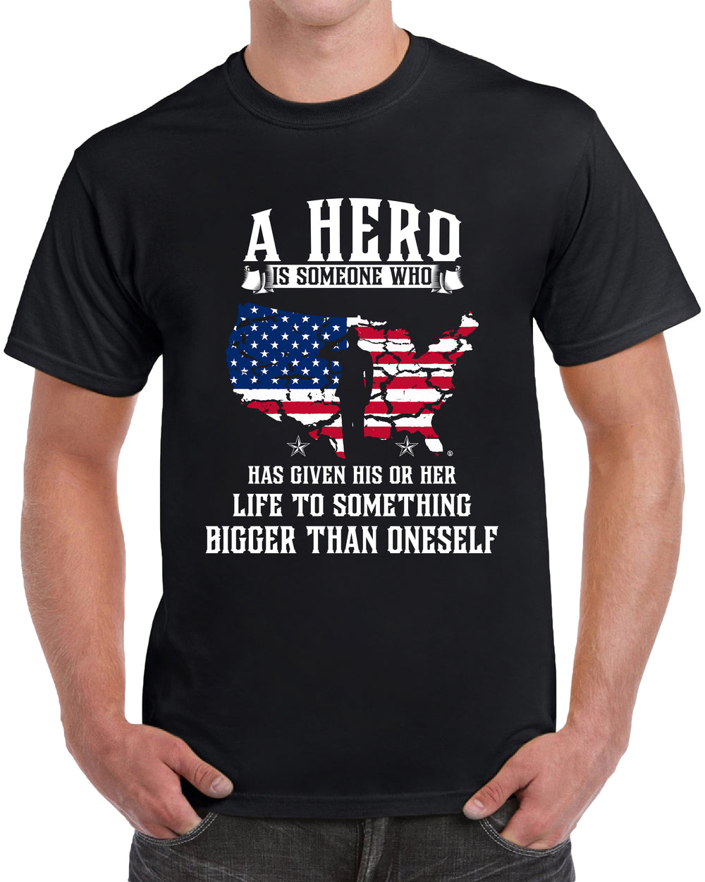 A Hero Is Someone Who Has Given His Or Her Life To Something Bigger Than Oneself - BLACK
