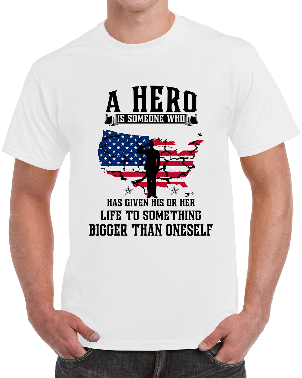 A Hero Is Someone Who Has Given His Or Her Life To Something Bigger Than Oneself - WHITE