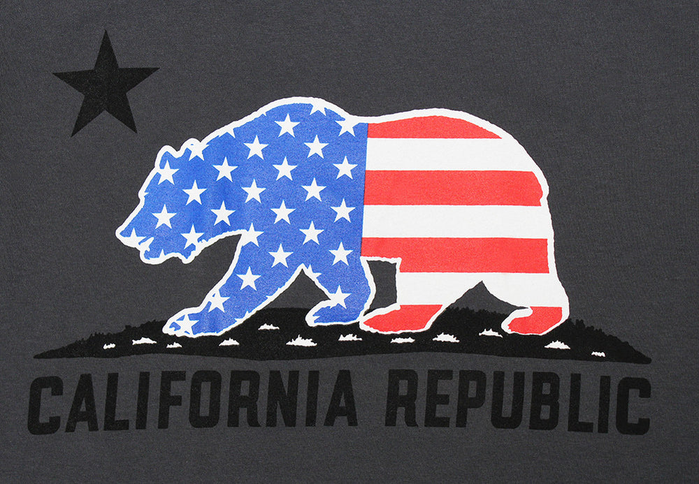 California Republic American Bear Men's T-Shirt - tees geek