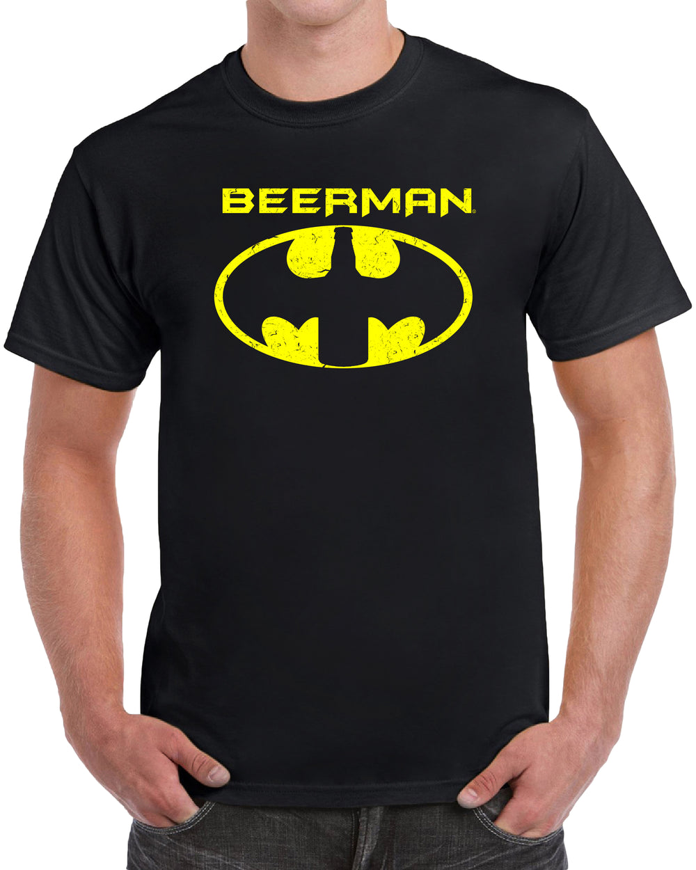 Beerman Batman Parody - Distressed Print