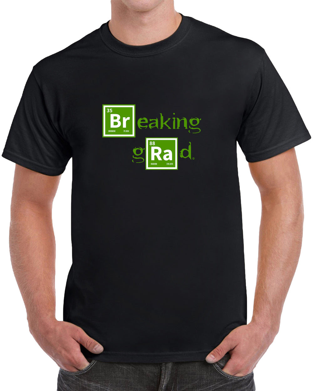 "Breaking Grad ""Br"" ""Ra"" Letters in Blocks - Black"
