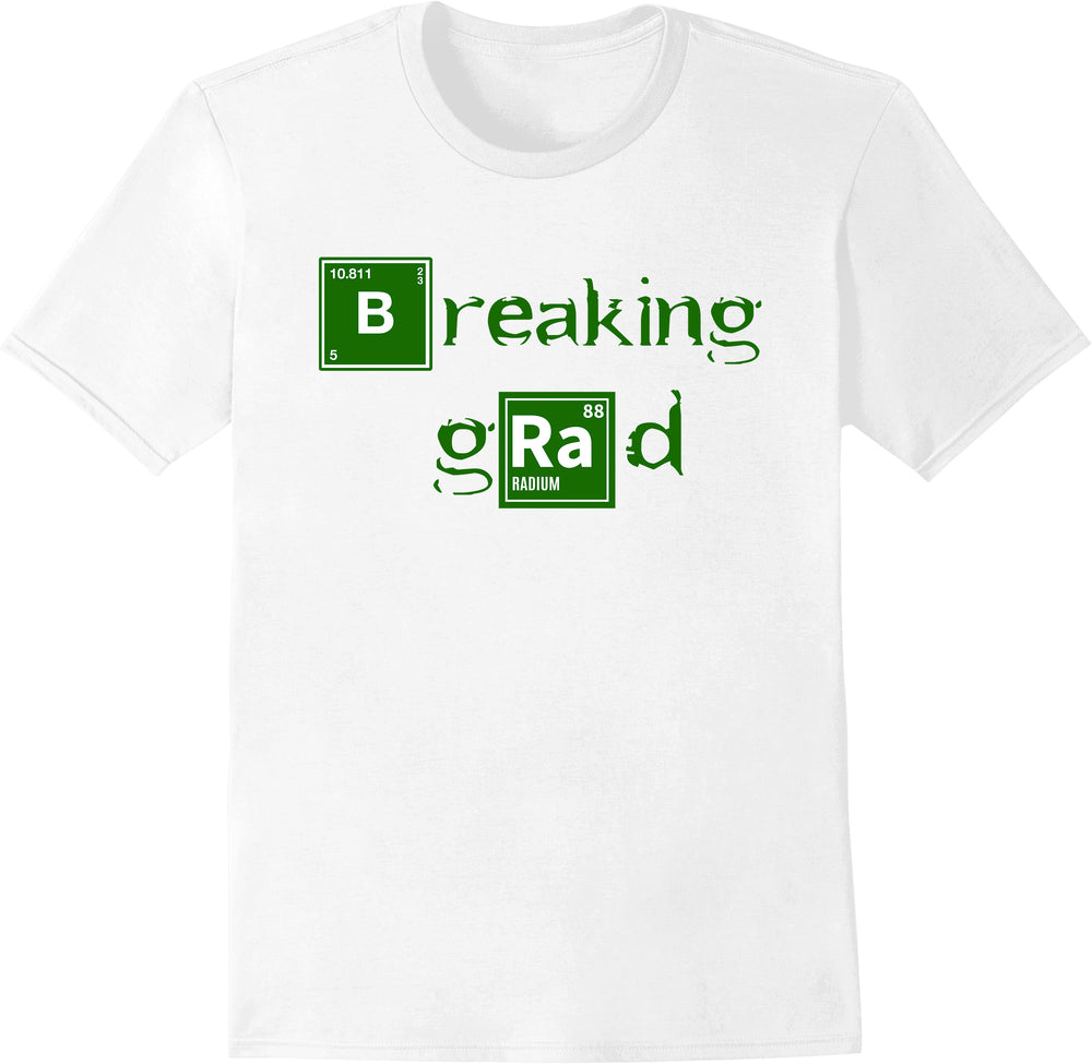 "Breaking Grad ""Br"" ""Ra"" Letters in Blocks - White"