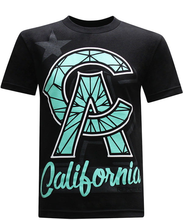 California Republic CA Diamond Men's T-Shirt - tees geek