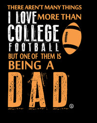 College Football Dad I Love Football Fathers Day Gifts Birthday Gifts Men's T-Shirt - tees geek
