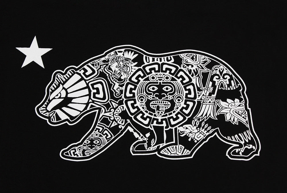 California Republic Aztec Bear Men's T-Shirt - tees geek