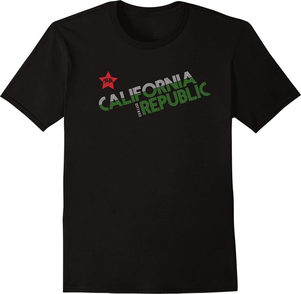 California Republic Green Retro Established 1850