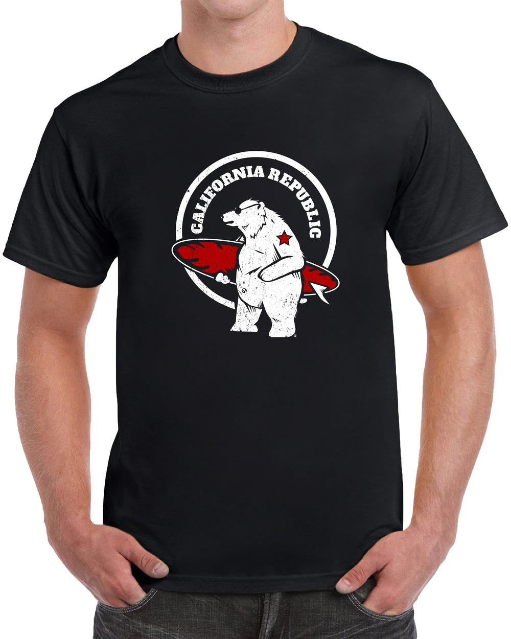 California Republic Surfing Bear