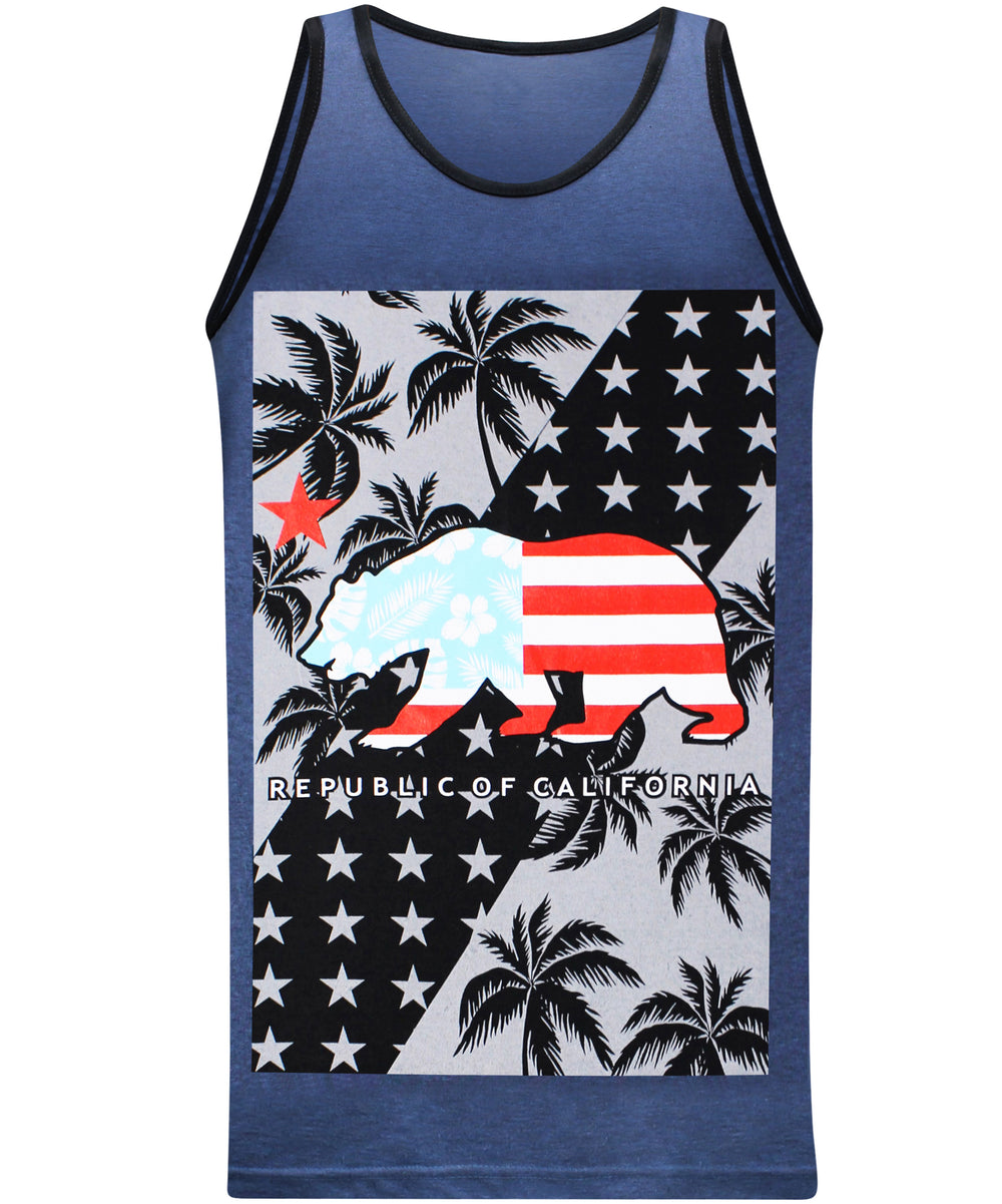 California Tropic Tank - Blue