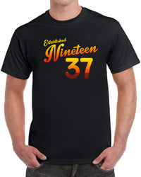 Established Nineteen 37 - Orange Print