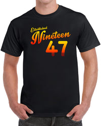 Established Nineteen 47 - Orange Print