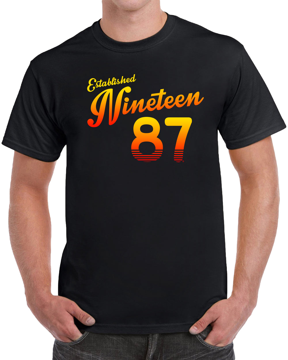 Established Nineteen 87 - Orange Print