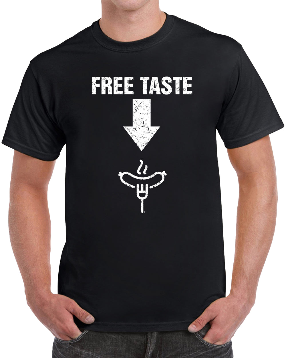 Free Taste Here - Distressed Print