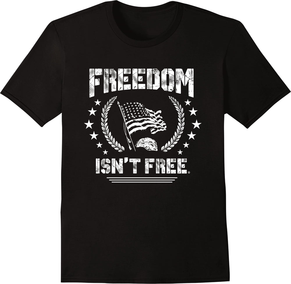 Freedom Isn't Free - Flag Black