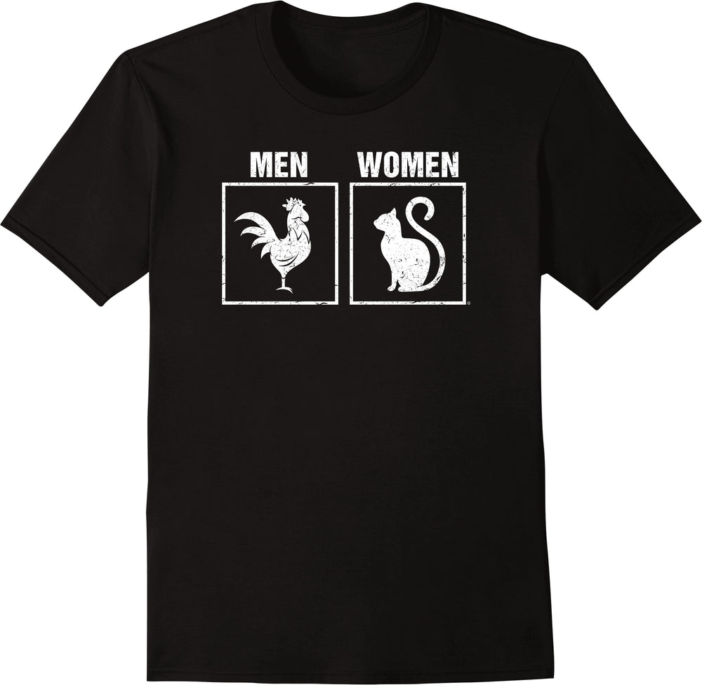 Gender Animal Symbols Men Vs Women - Distressed Print