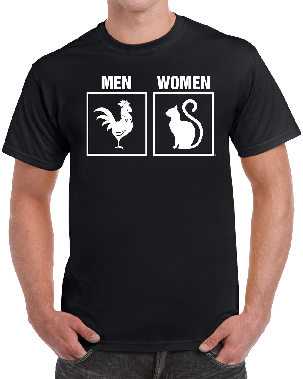 Gender Animal Symbols Men Vs Women - Solid Print