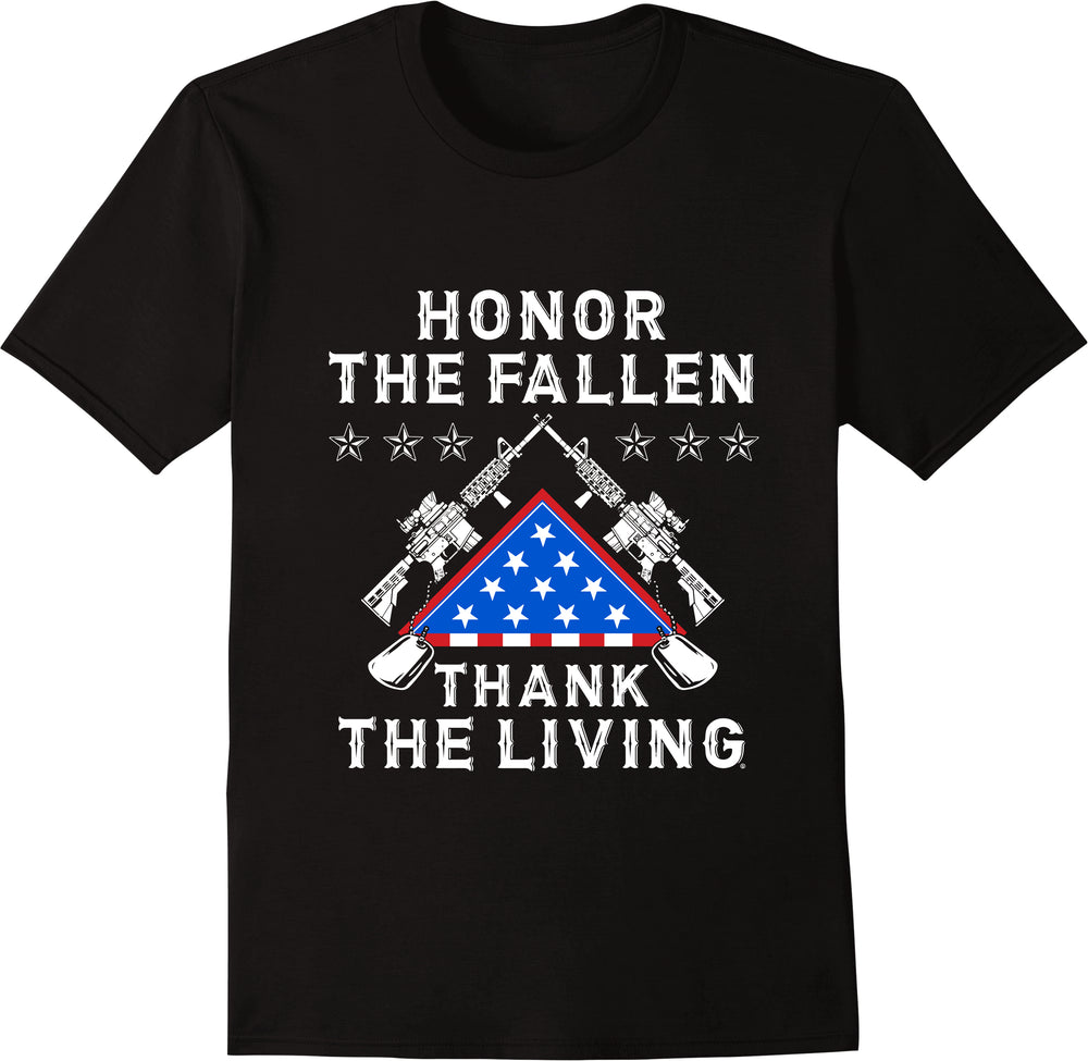 Honor The Fallen Thank The Living - Black
