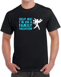 Help Me! I'm On A Family Vacation - Distressed Print