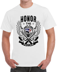 Honor The Fallen White - Skull