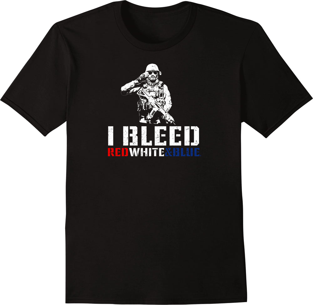 I Bleed Red White & Blue - Distressed Print