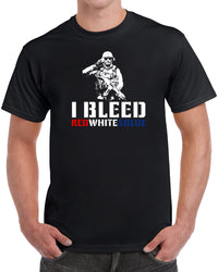 I Bleed Red White & Blue - Solid Print
