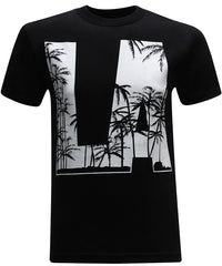California Republic LA Palm Trees Men's T-Shirt - tees geek