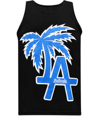 California Republic LA Baseball Men's Muscle Tee Tank Top T-Shirt - tees geek
