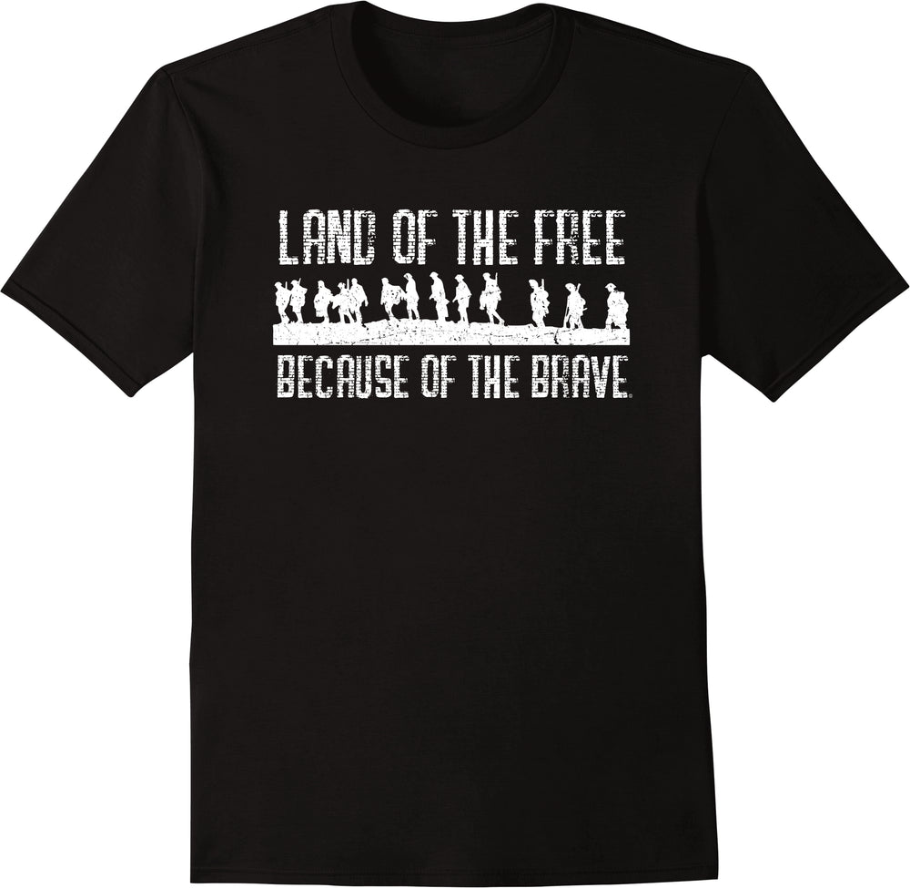 Land Of The Free Because Of The Brave - Distressed Print