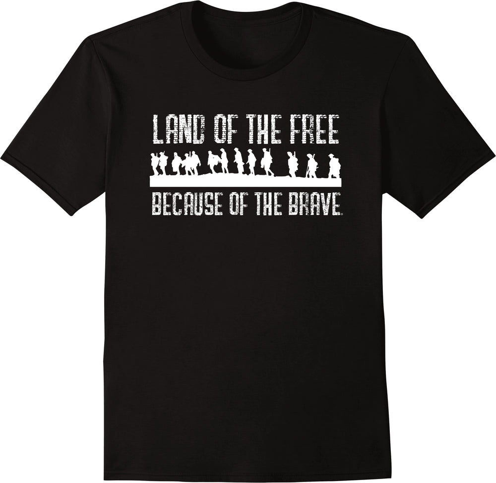 Land Of The Free Because Of The Brave - Solid Print
