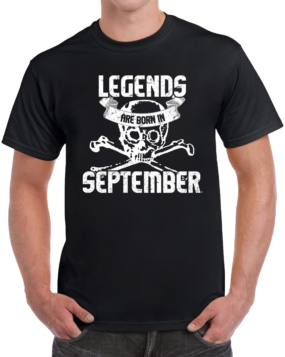 Legends Are Born in September - Skull