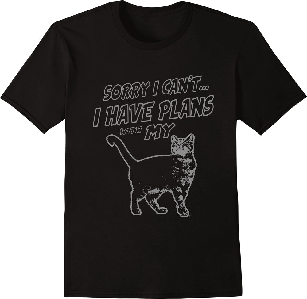Sorry I Can't I Have Plans With My Cat - Silver Print