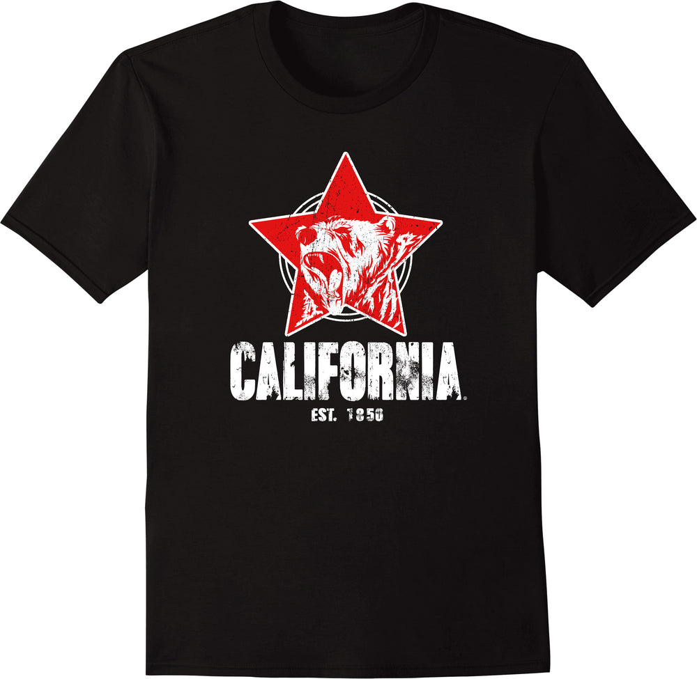California Republic Stay Wild Star Bear Established 1850