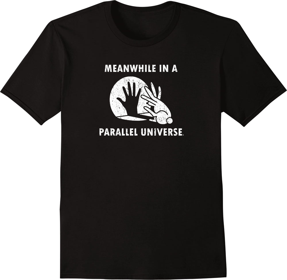 Meanwhile In A Parallel Universe - Distressed Print
