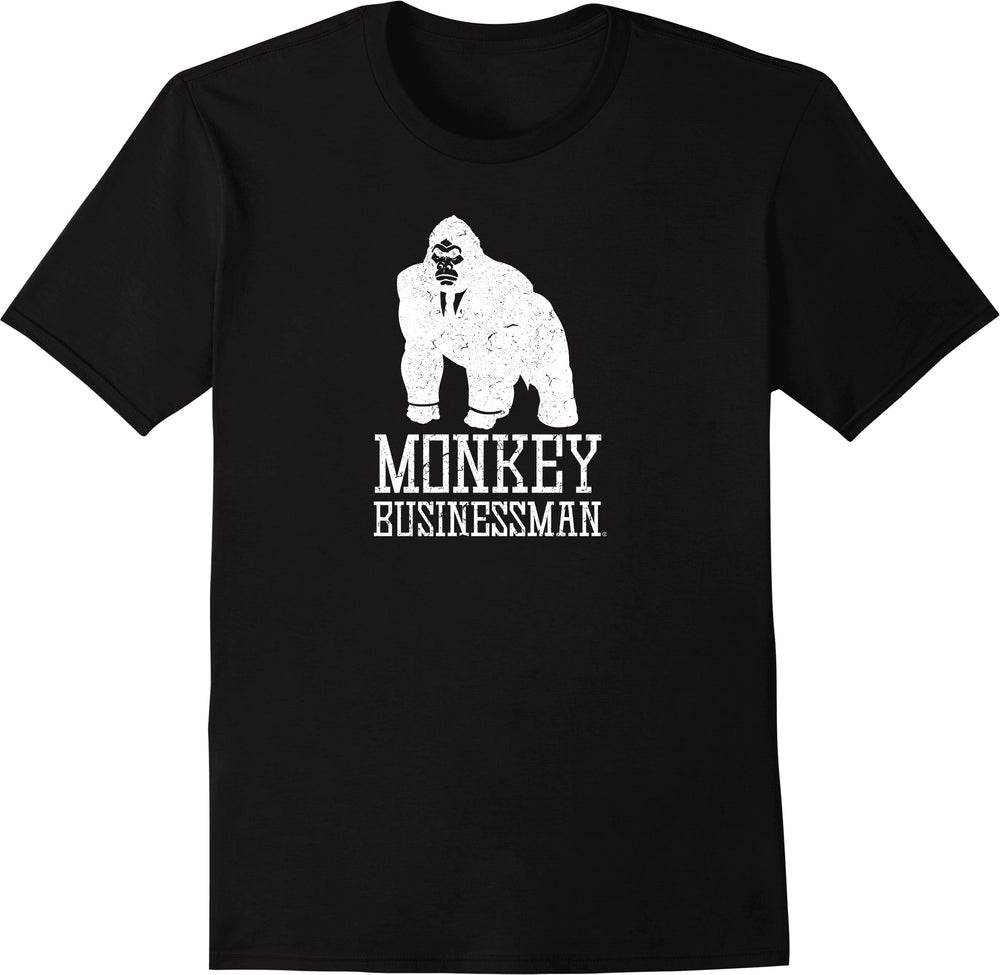 Monkey Businessman - Distressed Print