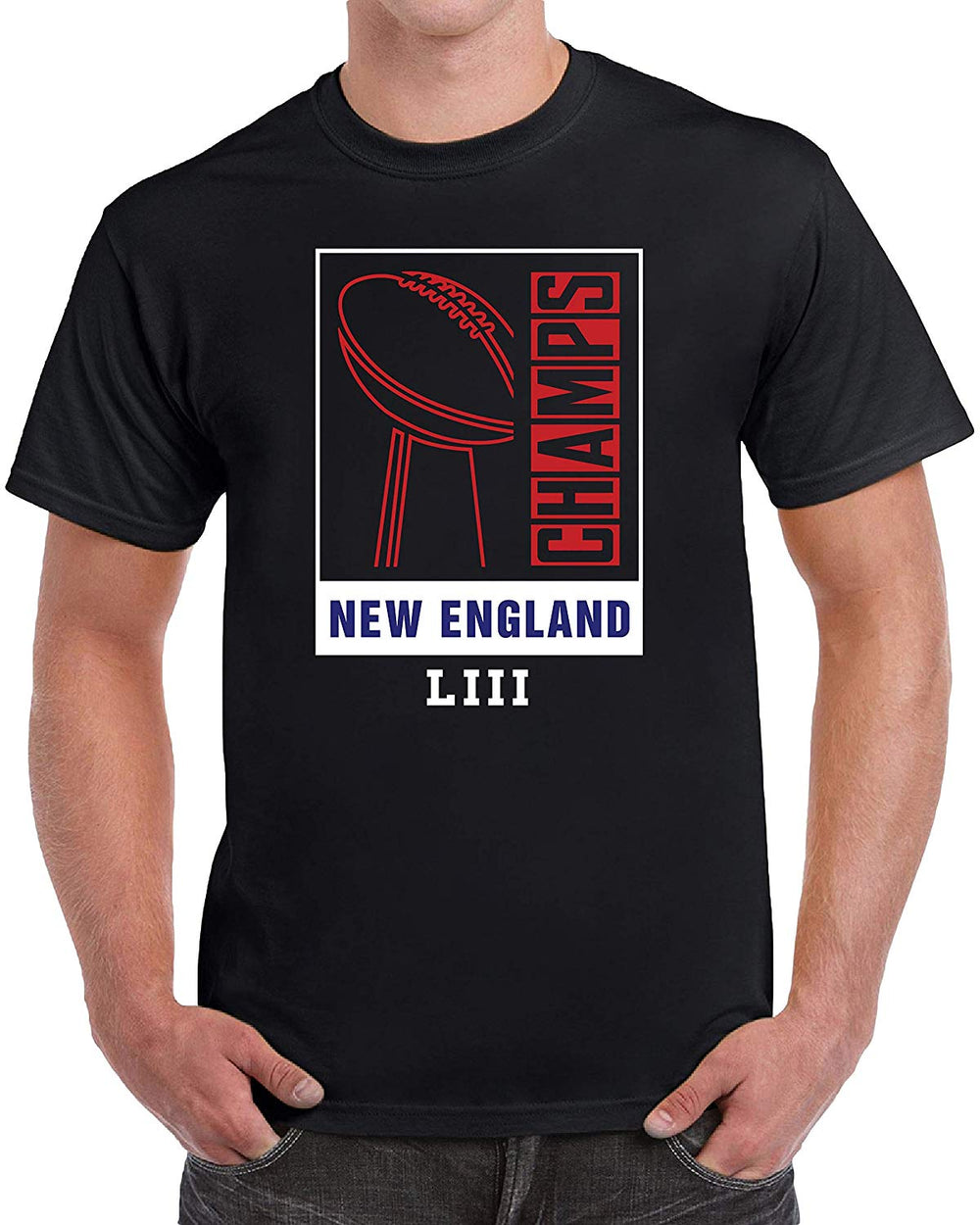 New England Champions Football - Black